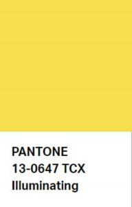 สี Illuminating Pantone ปี 2021