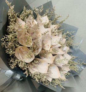 ช่อดอกไม้ประดิษฐ์แบงก์พัน